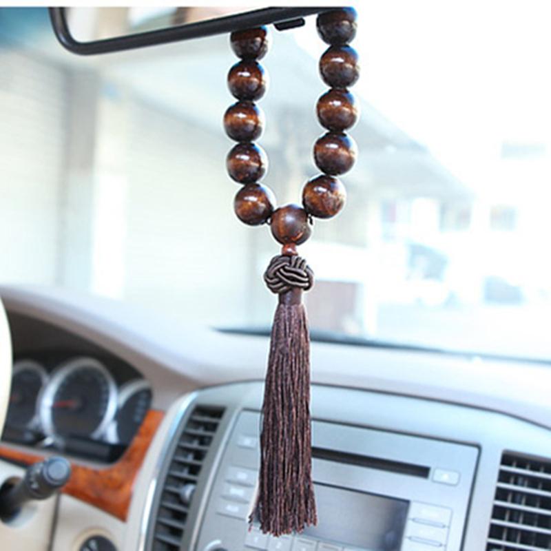 High Imitation Lobular Red Sandalwood Prayer Beads Hand String Bracelet Evil Bracelets Large Car Ornaments - ABC SPEED CO store