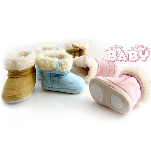 Best price Cute Infant Baby Boys Girls Winter Boots Toddler Fur Cotton Snow Shoes(China (Mainland))
