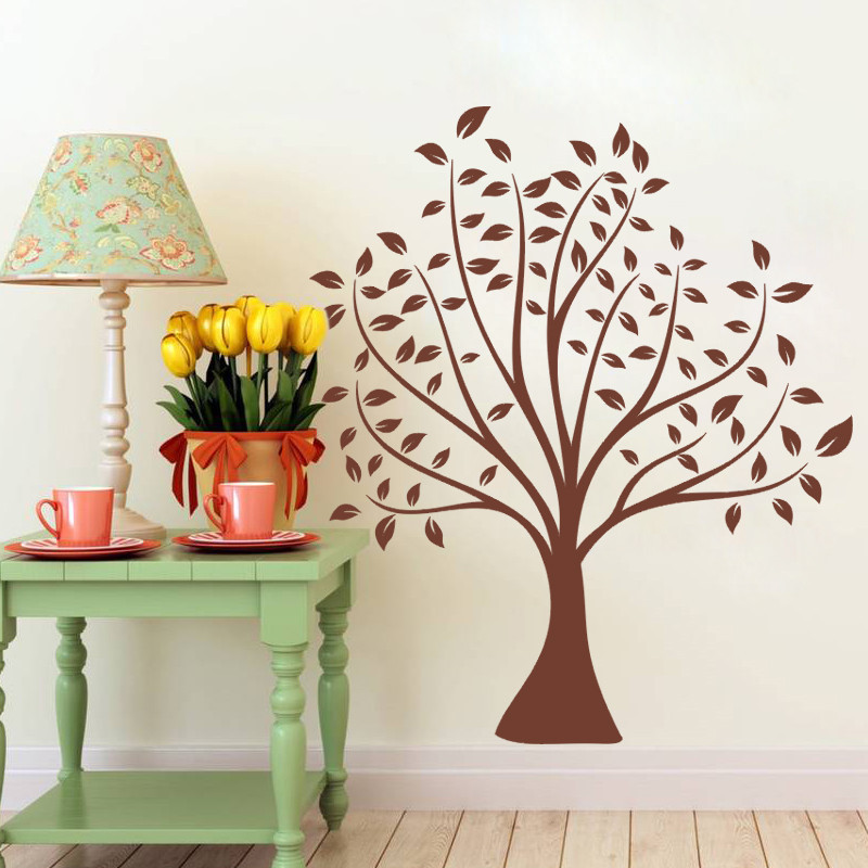 70*80cm simple classical Brown Tree home decal wedding decoration wall sticker make your family more colorful mural art stickers(China (Mainland))