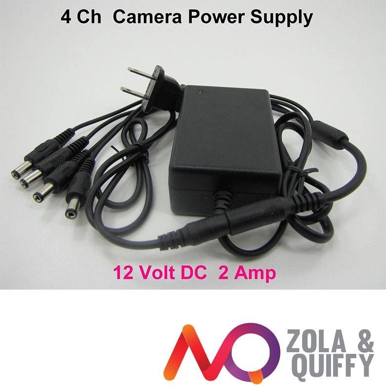12VDC 2A 2000mA Security Camera Power Supply Adapter & Splitter ZMODO(China (Mainland))