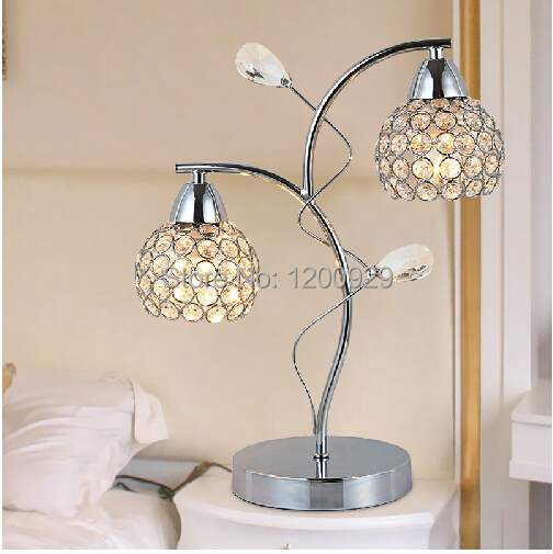 Creative Luxury K9 Crystal Modern Table Lamp Living Room Home Decoration Brief Lighting Free Shipping TLL-14(China (Mainland))