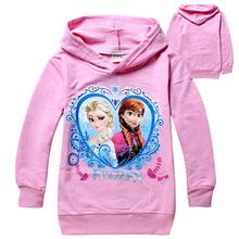Girls Children Hoodies Cartoon Princess Long Sleeve Outwear Child Kids Coats Fashion Spring Autumn Clothing Free Drop Shipping(China (Mainland))