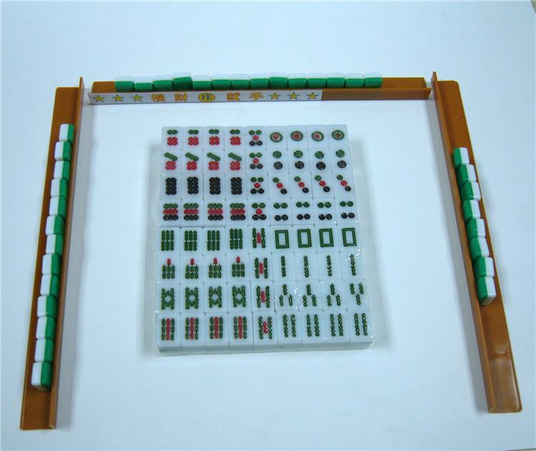 Hot Chinese Board Game Mini Travel Mahjong Set High Quality Organic Glass 16*11*9mm Mini size with rack(China (Mainland))