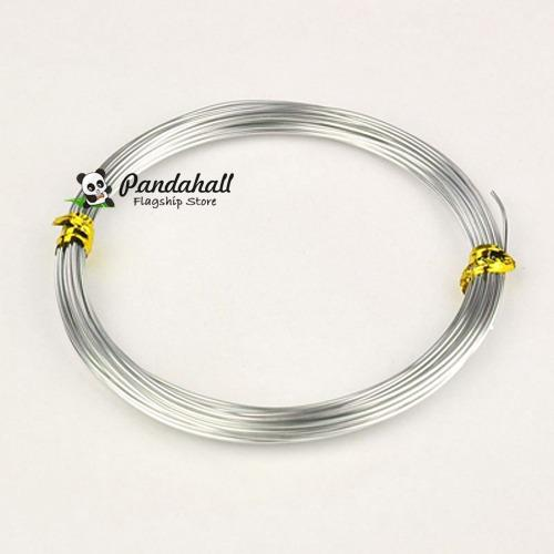 10m/roll 0.8mm Silver Plated Aluminum Wires craft for DIY jewelry making findings accessories embellishment supplies pandahall(China (Mainland))
