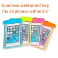 Universal Luminous Waterproof Bag For Samsung Galaxy S3 S4 S5 Mini S6 A3 A5 A7 E5