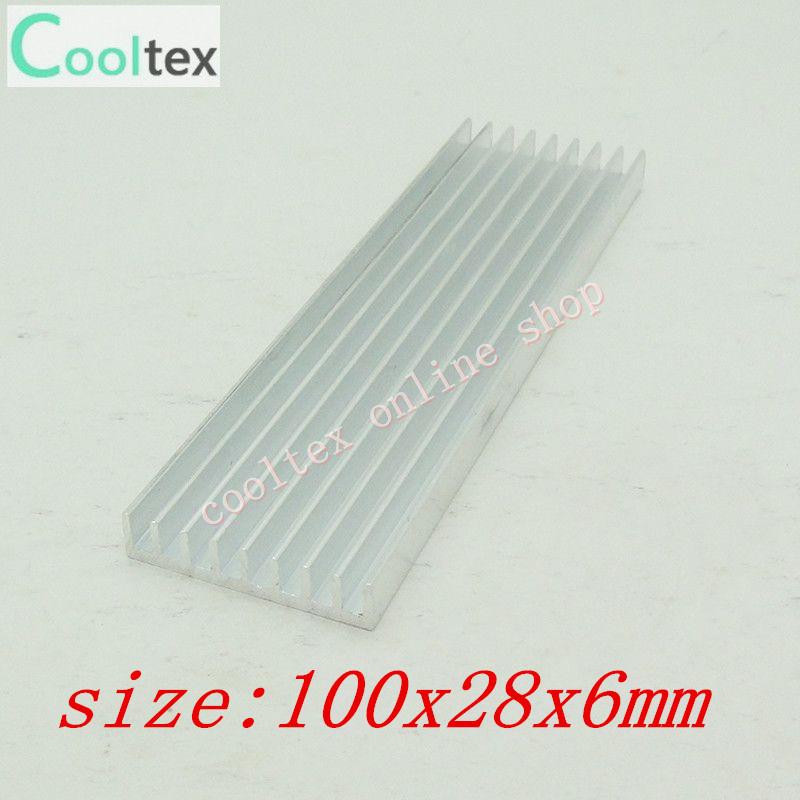 3pcs/lot 100x28x6mm Aluminum Heatsink for Chip CPU GPU VGA RAM LED IC heat sink radiator, COOLER,cooling(China (Mainland))
