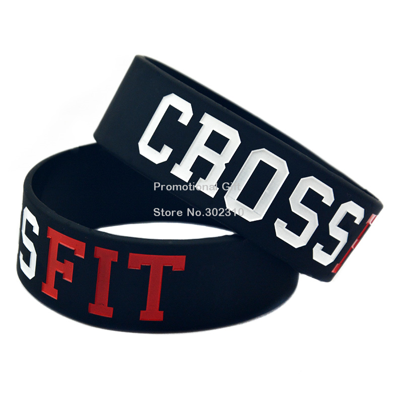 50PCS/Lot CrossFit Debossed Silicone Wristband for Fitness Activities(China (Mainland))