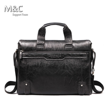 New 2016 Men Leather Briefcase Messenger Bags Men Bag For Notebook Nen Shoulder Bag Brand Leather Office Bags SD-175(China (Mainland))