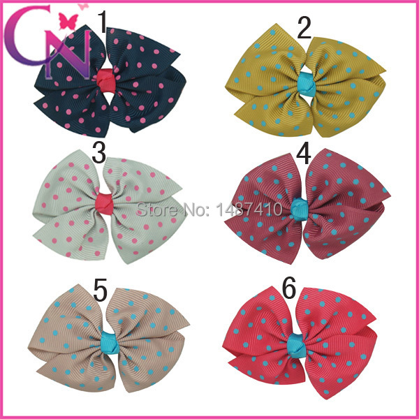 "Free Shipping 5""/lot High Quality Pet Dog Hair Bows Boutique Grosgrain Hair Accessories For Baby Girls 3inch CNHBW-13092120(China (Mainland))"