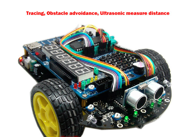 51 Microcontroller Development Board C51 Intelligent Car R2 Tracking Obstacle Avoidance Electronic Suite Starter Kit diy rc toy(China (Mainland))