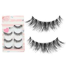 2015 New 5 Pairs Black Cosmetic Cross False Eyelash Soft Long Makeup Eye Lash Extension 6FAR