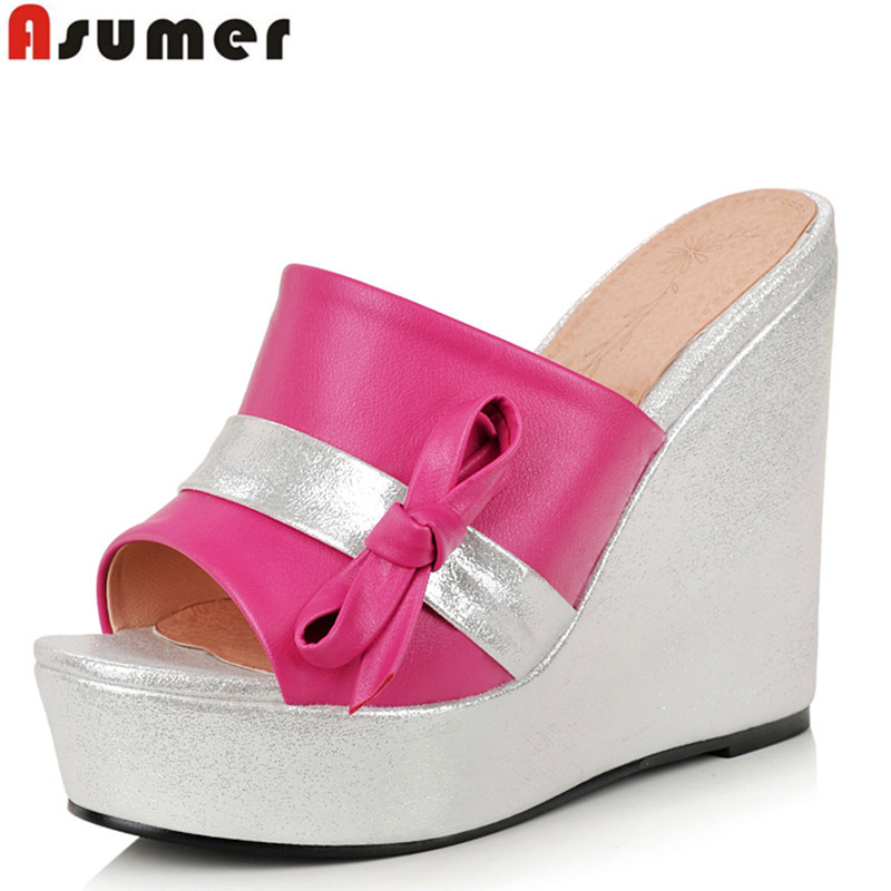 2016 new summer open toe wedges sandals platform high heels women slippers ladies casual dress shoes woman - CHINA AISIMI Co., LTD store
