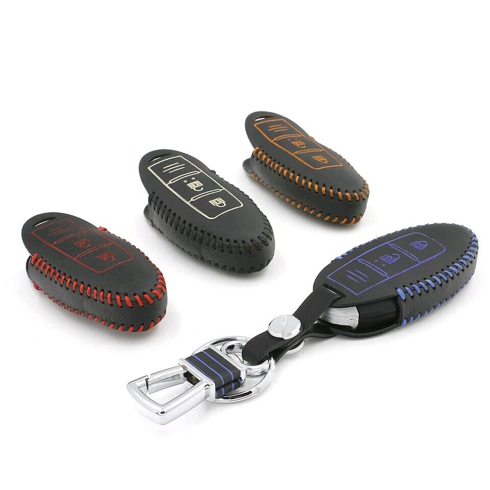Car Styling High Quality Genuine Leather Of Car Key Holder Key Case Key Chain Key Clip For Infiniti ESQ 2014(China (Mainland))
