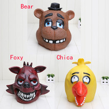 Five Nights At Freddy's FNAF Bear Foxy Chica halloween cosplay Full Latex Mask Model Toy(China (Mainland))