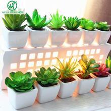 Mini potted plant Desktop pot white ceramic basin simulation artificial succulents decorative ornaments variety(China (Mainland))