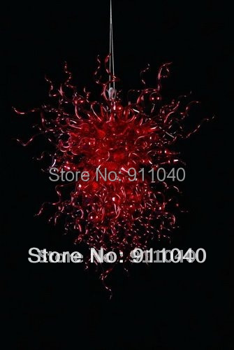 High quality lamp transparent red glass chandelier shade(China (Mainland))