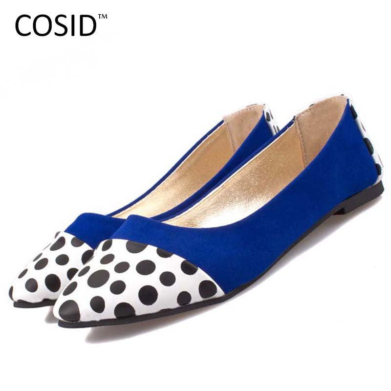 Spring Summer Casual Soft Shoes Women Flats Round Toe Ladies Slip On Moccasins Driving Pregnant Loafers Dot Flat Shoes BSN-327