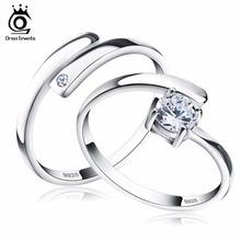 Orsa jewels 925 silver ring set with cz изысканные ювелирные для женщины Мужчины 2017 Новый Изменение Размера Настоящее Стерлингового Серебра 925 Ювелирных Изделий SR22(China (Mainland))
