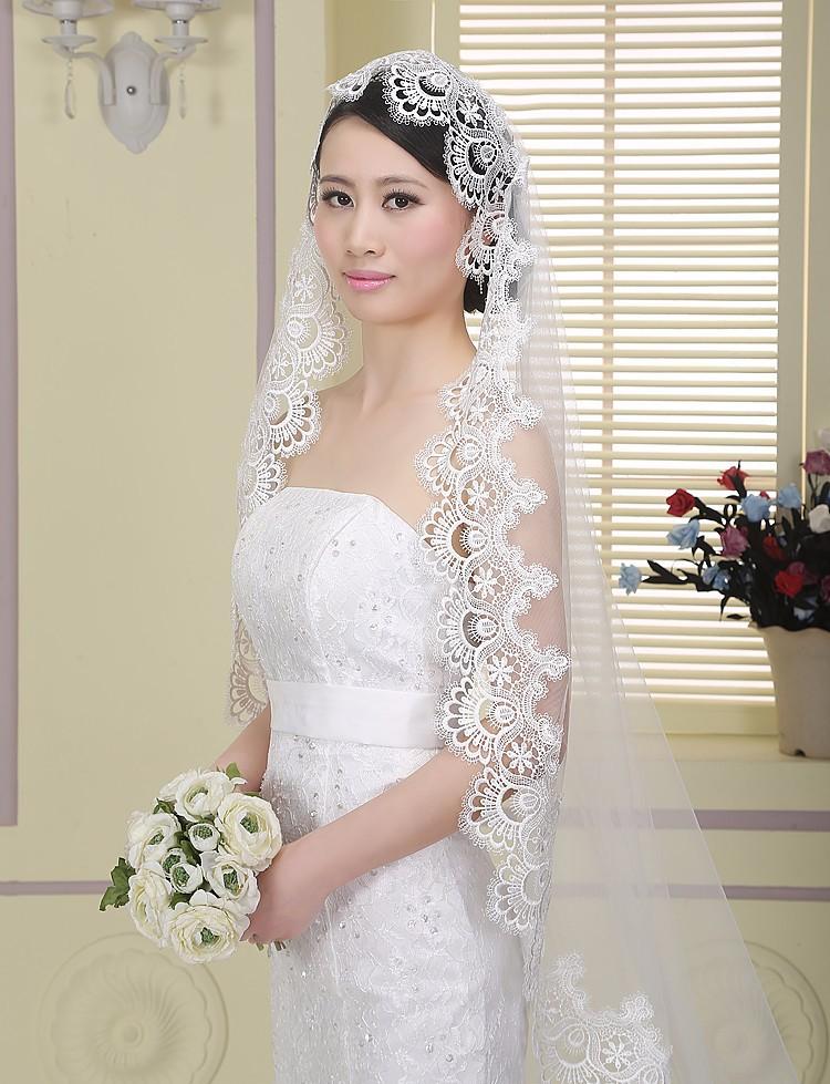 Новый горячая распродажа высокое качество 1.5 м один многоуровневое кружева длинным элегантный люкс свадебная фата фата кружева завесу