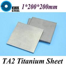 Buy 1*200*200mm Titanium Sheet UNS Gr1 TA2 Pure Titanium Ti Plate Industry DIY Material Free for $22.90 in AliExpress store