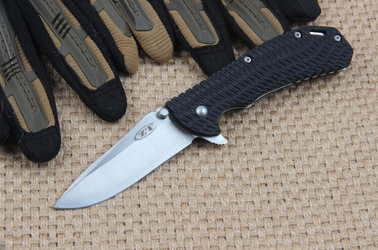Buy OEM Tactical folding knife 5Cr13Mov blade Nylon and glass fiber handle outdoor camping hunting pocket knives hand tools cheap