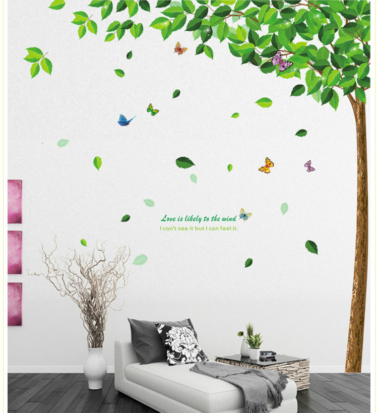 Sale imple plant tree XL wall sticker for Home Decor vinilos paredes modern art plane stickers