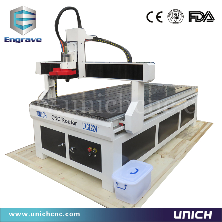 UNICH! low price CNC wood router machine/1224 cnc router/dust collector for cnc router(China (Mainland))