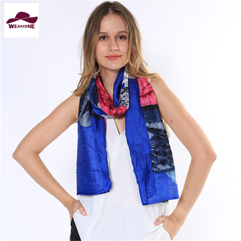 Women scarves Silk Pure cotton Scarf Shawl van gogh Silk Scarves contrast Printed Long Shawls Beach Cover-ups Spring Autumn(China (Mainland))