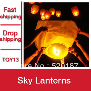 30pcs Chinese Sky Lantern, Loving Lanterns, Wishing Lamp For Party & Wedding -- TOY13 Wholesale & Retail