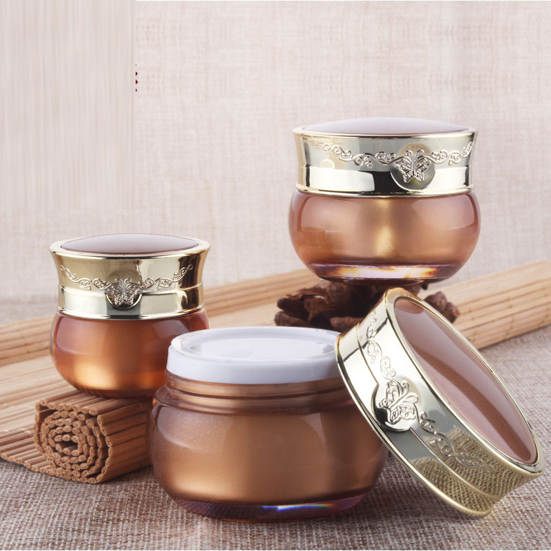 15 g luxury empty gold cosmetic plastic packaging container with screw cap, 15 ml personalized cream jars 1/2 oz acrylic bottle<br><br>Aliexpress