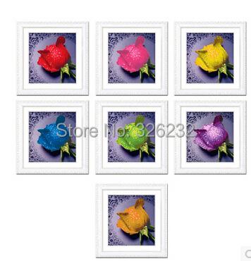 2015 new 5d diy diamond painting colors of roses round rhinestone pasting decorative painting diamond embroidery mosaic(China (Mainland))