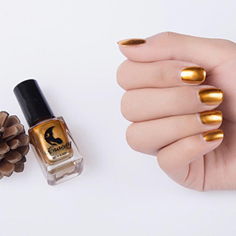 Achetez en gros gold metallic nail polish en ligne des for Vernis miroir argent