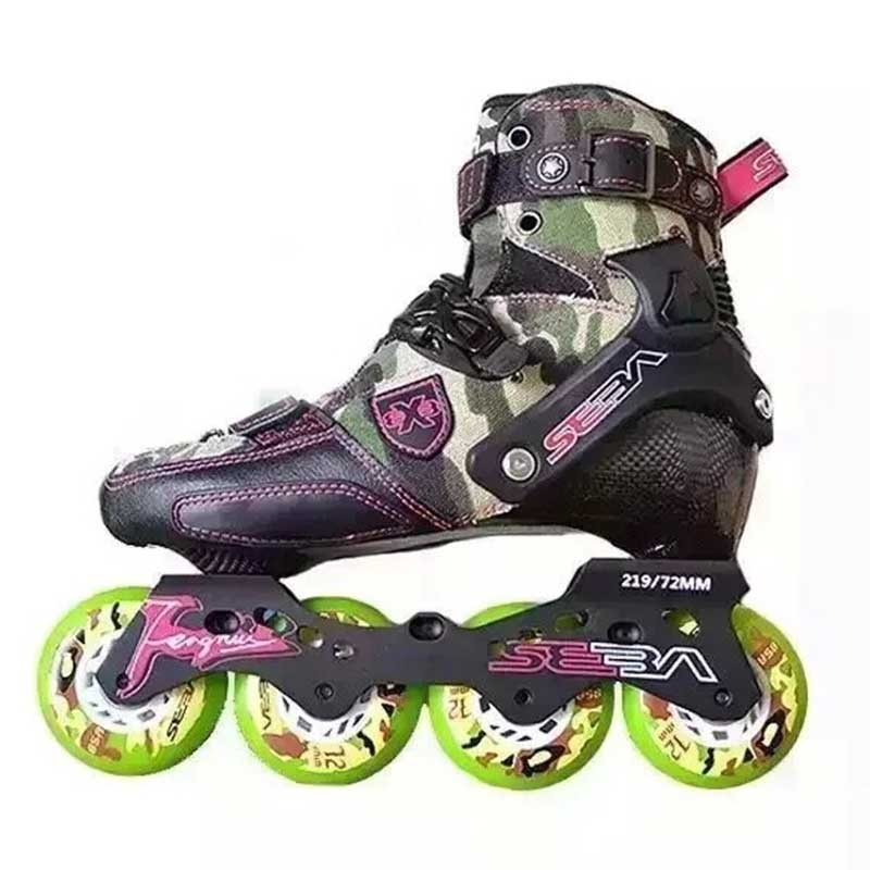 Original Champion Customized SEBA TRIX Inline Skates Adult Slalom Roller Skate Shoes Carbon Fiber Rollerblading Patines Adulto(China (Mainland))