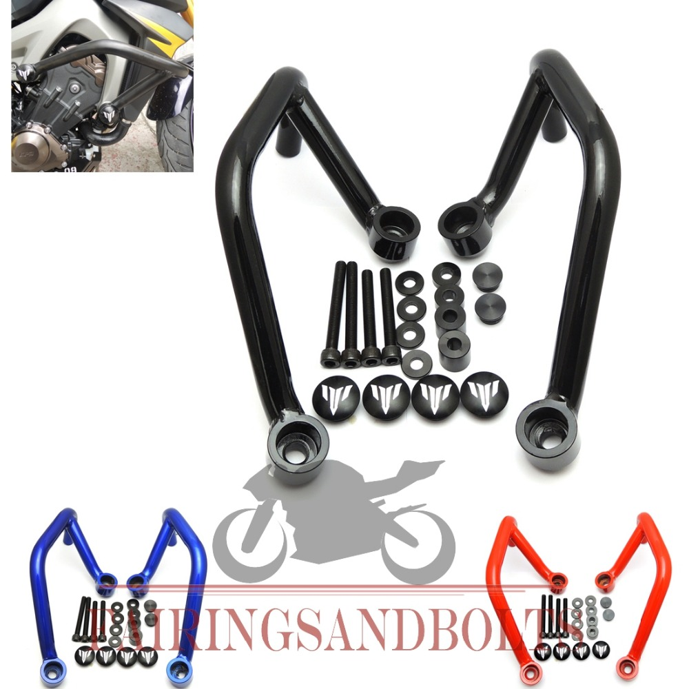 For 2013-2015 YAMAHA MT FZ 09 MT-09 Motor Accessories 25mm Front Engine Guard Crash Bars Motorbike Parts(China (Mainland))