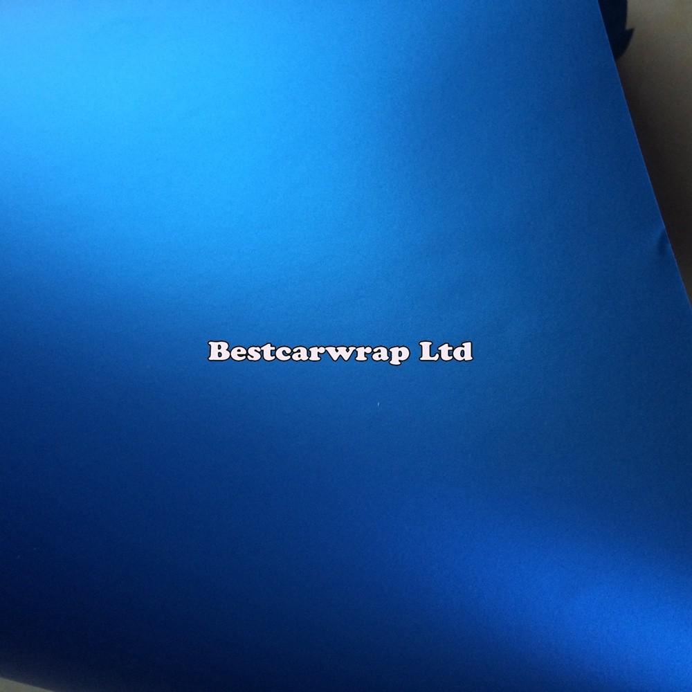 TATANUM Matt BLUE METALLIC CHROME SATIN VINYL CAR WRAP FILM 3M (5)