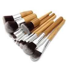 2015 11Pcs/set  Professional Wood Handle Makeup Make Up Cosmetic Eyeshadow Foundation Concealer Brushes Set  Tools 51TC(China (Mainland))