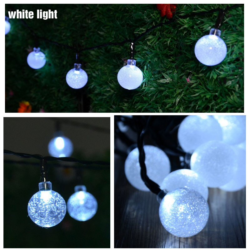 Novelty Solar String Lights Outdoor : Novelty Solar Led Christmas Lights Outdoor 6m 30LEDs Crystal Ball String Lamp Pendant Fairy ...