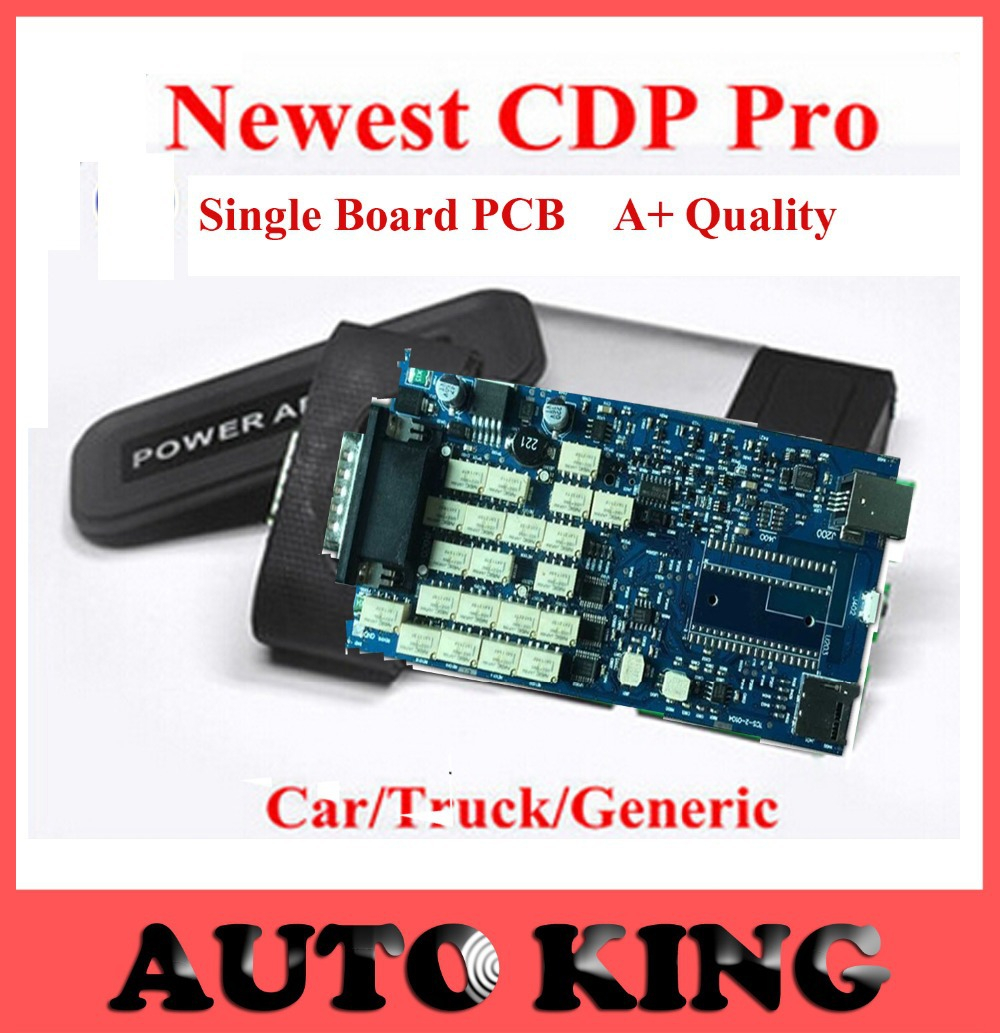 2015 Fast free Shipping Quality A+++ TCS CDP PRO scanner no bluetooth 2014.02 Single Board tcs Scanner<br><br>Aliexpress