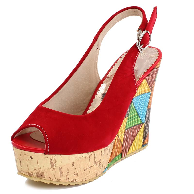 Fashion High Heel Sandals Rome Style Summer Casual Wedge Shoes Platform Open Toe Sandals for Women Sandals Shoes Women<br><br>Aliexpress