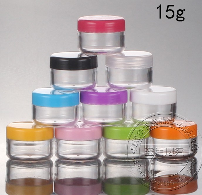 -15G Cream Jars,Empty Cosmetic Container,Small Plastic Box,MINI PS Canister,Sample Makeup Sub-bottling,8 - bottle's home 506123 store