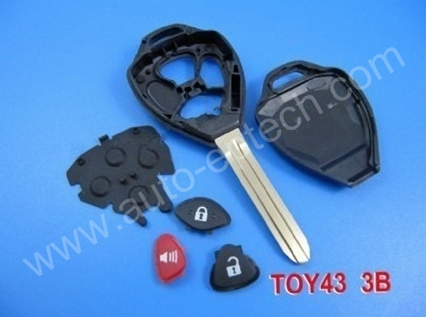 30pcs uncut blade toy43 3 button toyota camry remote key fobs covers replacement toyota car key. Black Bedroom Furniture Sets. Home Design Ideas