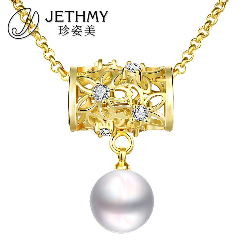 2015 Summer Pearl Necklace Women 18K Gold Plated Chain Jewelry Nickel Free Collier Femme Bijoux Boho Vintage Jewerly N018-A(China (Mainland))