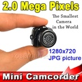 Micro Smallest Portable HD CMOS 2 0 Mega Pixel Pocket Video Audio Digital Camera Mini Camcorder