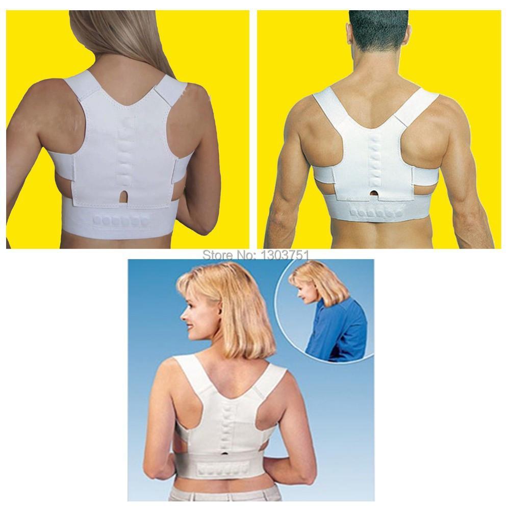 1pcs Body Back Pain Bulder Magnetic Posture Support Belt Brace Posture Corrector Health Care Adjustable Posture Band(China (Mainland))