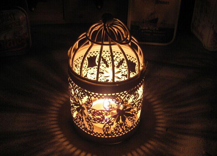 Free shipping  European-style candlesticks / small birdcage iron lantern / Creative Wedding birthday gift / Candlestick Gifts(China (Mainland))