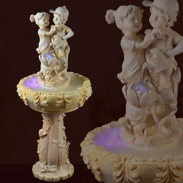 Http Www Aliexpress Com Item European Statues Garden Home Decor Furnishings Creative Ideas Lucky Feng Shui Fountain Flowing Water Features Round 32325575808 Html