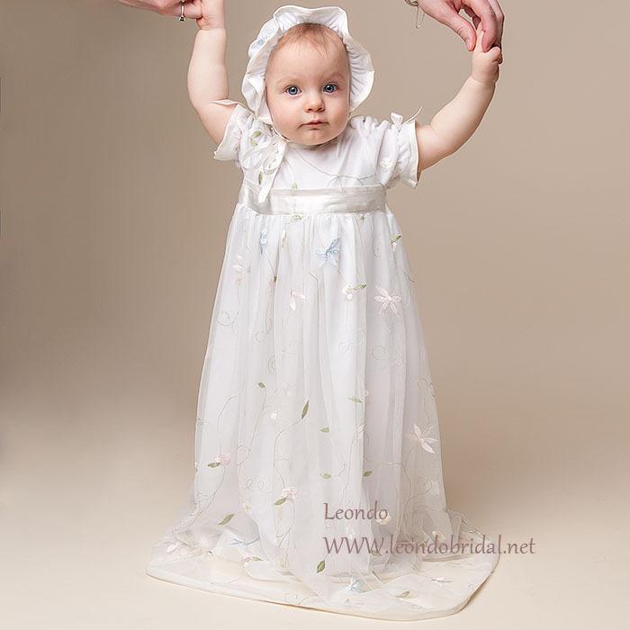 ZQ-1 cheap christening dresses A-Line O-Neck Regular Floor-Length long baptism dress birthday dress for 1 year baby girl Robe ro(China (Mainland))