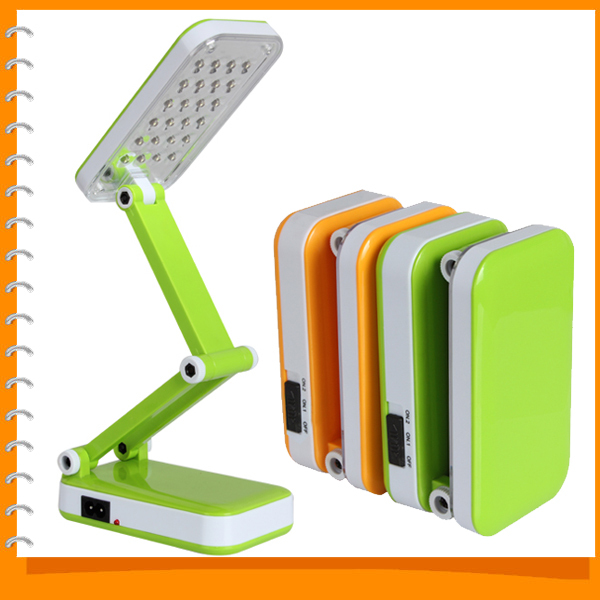 Foldable Flexible Modern LED Rechargeable Desk Table Lamp Adjustable Booking Reading Lamp for Study Office with 24 LED Lights<br><br>Aliexpress