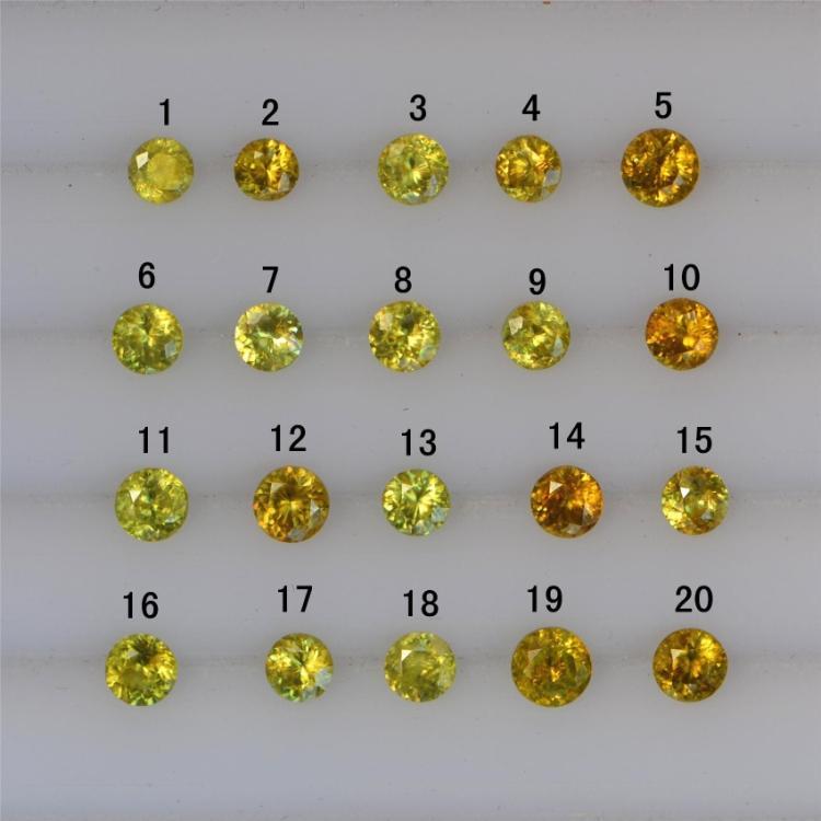 new SI to VVS Sphene loose gems shinning(China (Mainland))