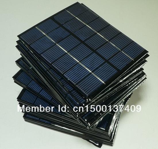 Wholesale! 6V 0.33A 2W mini solar panels Small Solar Power 3.6V Battery Charge Solar Led Light Solar Cell 10pcs Free Shipping